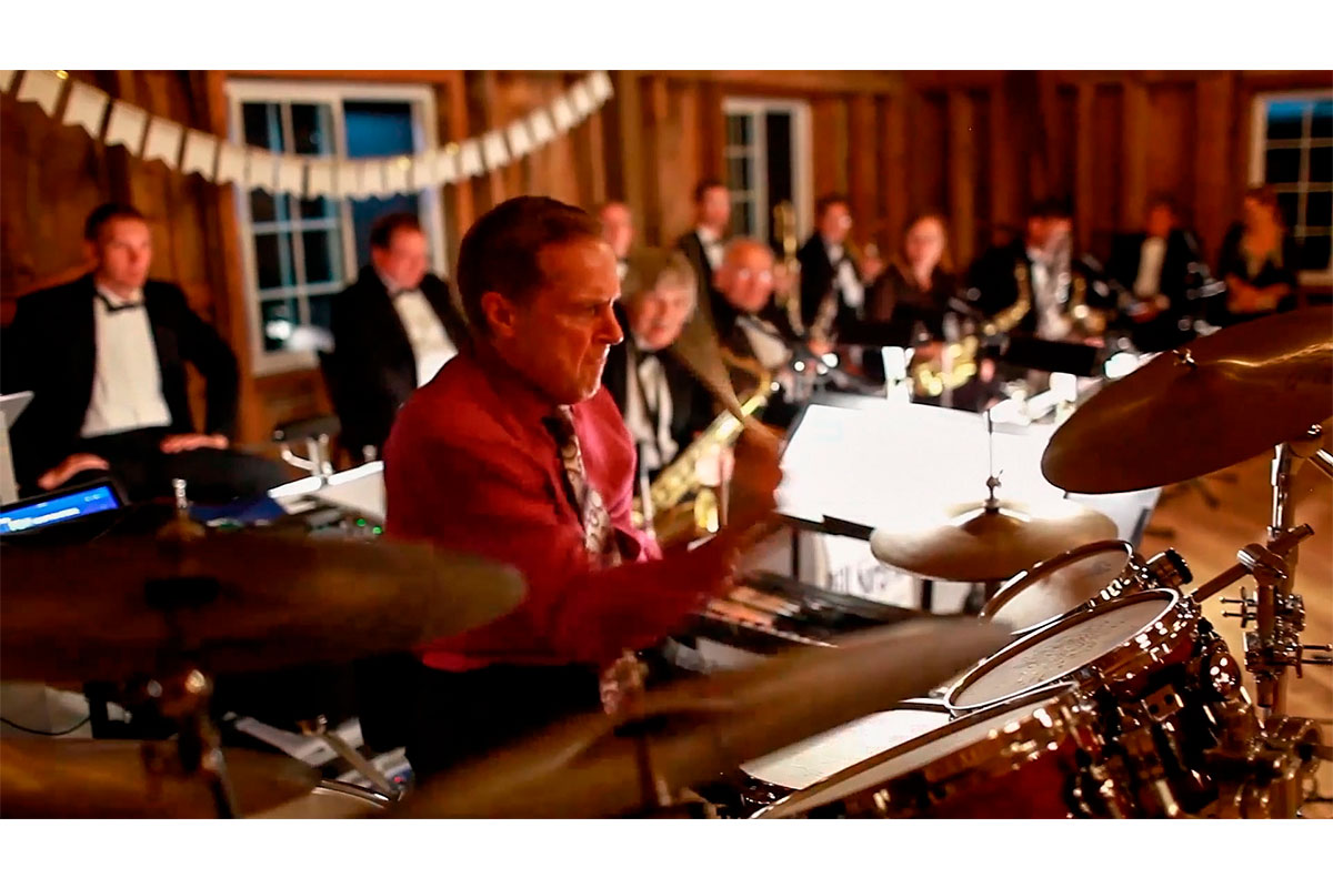 Bill Sargent Drumming with The Bill Sargent Big Band at the Bloom Lake Barn
