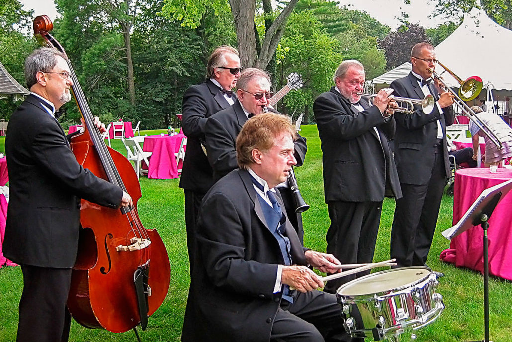 Bill Sargent's Trad-Jazz Rousers Dixieland Band at a private residence in Fox Point, Wisconsin